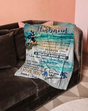 "To My Husband  Small Fleece Blanket - 30"" x 40"" aos-coral-fleece-blanket-30x40-lifestyle-front-05"