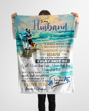"To My Husband  Small Fleece Blanket - 30"" x 40"" aos-coral-fleece-blanket-30x40-lifestyle-front-14"