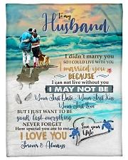 "To My Husband  Small Fleece Blanket - 30"" x 40"" front"