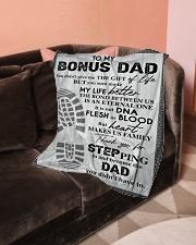 "To My Bonus Dad Small Fleece Blanket - 30"" x 40"" aos-coral-fleece-blanket-30x40-lifestyle-front-05"