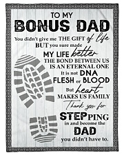 """To My Bonus Dad Small Fleece Blanket - 30"""" x 40"""" front"""