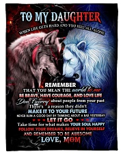 "To My Daughter - Mom Small Fleece Blanket - 30"" x 40"" thumbnail"
