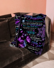 """To My Daughter - Mom Small Fleece Blanket - 30"""" x 40"""" aos-coral-fleece-blanket-30x40-lifestyle-front-05"""