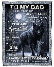 "To My Dad - Daughter Small Fleece Blanket - 30"" x 40"" front"