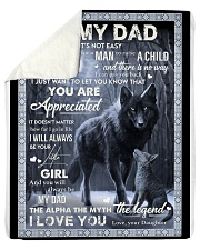 To My Dad - Daughter Sherpa Fleece Blanket tile