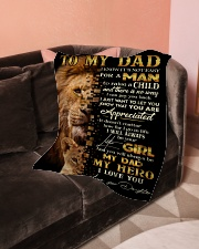 """To My Dad - Daughter  Small Fleece Blanket - 30"""" x 40"""" aos-coral-fleece-blanket-30x40-lifestyle-front-05"""