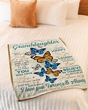 "To My Granddaughter - Grandma Small Fleece Blanket - 30"" x 40"" aos-coral-fleece-blanket-30x40-lifestyle-front-01"