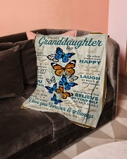 "To My Granddaughter - Grandma Small Fleece Blanket - 30"" x 40"" aos-coral-fleece-blanket-30x40-lifestyle-front-05"
