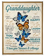 "To My Granddaughter - Grandma Small Fleece Blanket - 30"" x 40"" front"