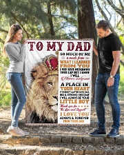 """To My Dad - Son  Quilt 40""""x50"""" - Baby aos-quilt-40x50-lifestyle-front-02"""