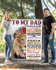 """To My Dad - Son  Quilt 40""""x50"""" - Baby aos-quilt-40x50-lifestyle-front-03"""