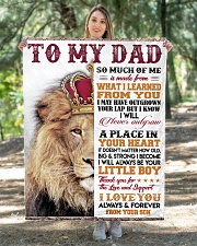 """To My Dad - Son  Quilt 40""""x50"""" - Baby aos-quilt-40x50-lifestyle-front-05"""