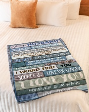 "To My Husband  Small Fleece Blanket - 30"" x 40"" aos-coral-fleece-blanket-30x40-lifestyle-front-01"