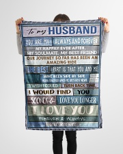 "To My Husband  Small Fleece Blanket - 30"" x 40"" aos-coral-fleece-blanket-30x40-lifestyle-front-14"