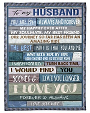 "To My Husband  Small Fleece Blanket - 30"" x 40"" front"