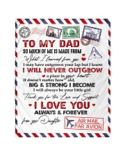 """To My Dad - Daughter Quilt 40""""x50"""" - Baby front"""