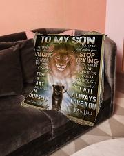 "To My Son - Dad Small Fleece Blanket - 30"" x 40"" aos-coral-fleece-blanket-30x40-lifestyle-front-05"