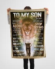 "To My Son - Dad Small Fleece Blanket - 30"" x 40"" aos-coral-fleece-blanket-30x40-lifestyle-front-14"