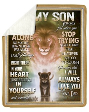 "To My Son - Dad Sherpa Fleece Blanket - 50"" x 60"" thumbnail"