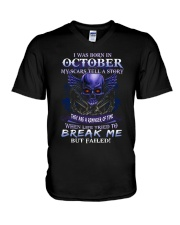 October break me V-Neck T-Shirt thumbnail