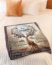 "To My Daughter - Mom Small Fleece Blanket - 30"" x 40"" aos-coral-fleece-blanket-30x40-lifestyle-front-01"