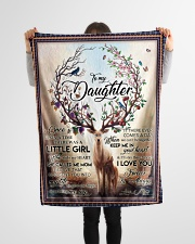 "To My Daughter - Mom Small Fleece Blanket - 30"" x 40"" aos-coral-fleece-blanket-30x40-lifestyle-front-14"