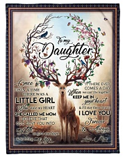 "To My Daughter - Mom Small Fleece Blanket - 30"" x 40"" front"