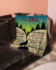 """To My Son - Mom Small Fleece Blanket - 30"""" x 40"""" aos-coral-fleece-blanket-30x40-lifestyle-front-05"""