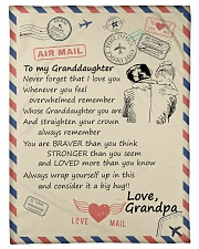 """To My Granddaughter-Grandpa Small Fleece Blanket - 30"""" x 40"""" front"""