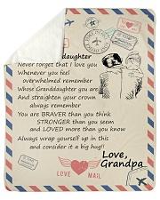To My Granddaughter-Grandpa Sherpa Fleece Blanket tile