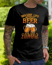 Life Without Beer Classic T-Shirt lifestyle-mens-crewneck-front-7