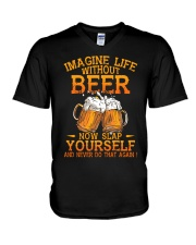 Life Without Beer V-Neck T-Shirt thumbnail
