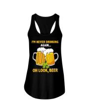 Never Drinking Ladies Flowy Tank thumbnail