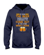 The Beer Come Out When I Honk Hooded Sweatshirt front