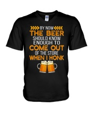 The Beer Come Out When I Honk V-Neck T-Shirt thumbnail