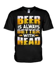 Better With Head V-Neck T-Shirt thumbnail