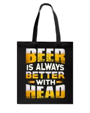Better With Head Tote Bag thumbnail
