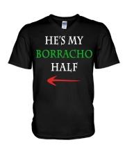 He's My Borracho Half V-Neck T-Shirt thumbnail