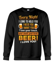 Beer-I Love U Crewneck Sweatshirt thumbnail