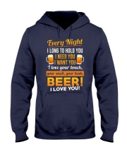 Beer-I Love U Hooded Sweatshirt thumbnail