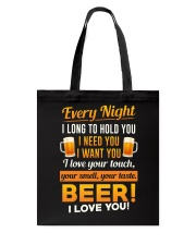 Beer-I Love U Tote Bag thumbnail