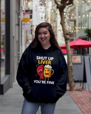 Shut Up Liver Hooded Sweatshirt lifestyle-unisex-hoodie-front-2