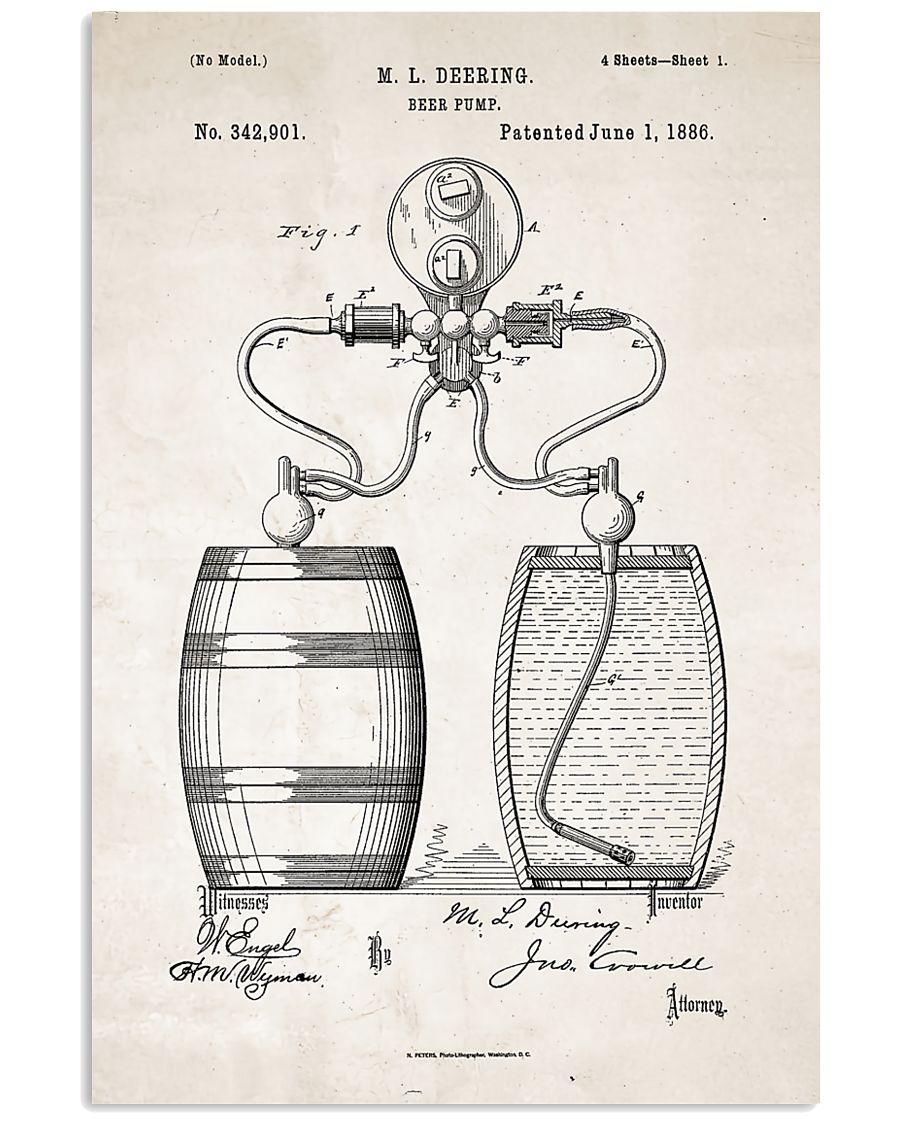 Beer Pump Patent 11x17 Poster