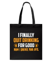 Drink For Evil Tote Bag thumbnail