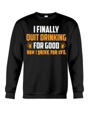 Drink For Evil Crewneck Sweatshirt thumbnail