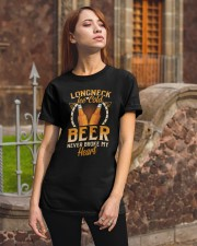 Longneck Ice Cold Beer Classic T-Shirt apparel-classic-tshirt-lifestyle-06