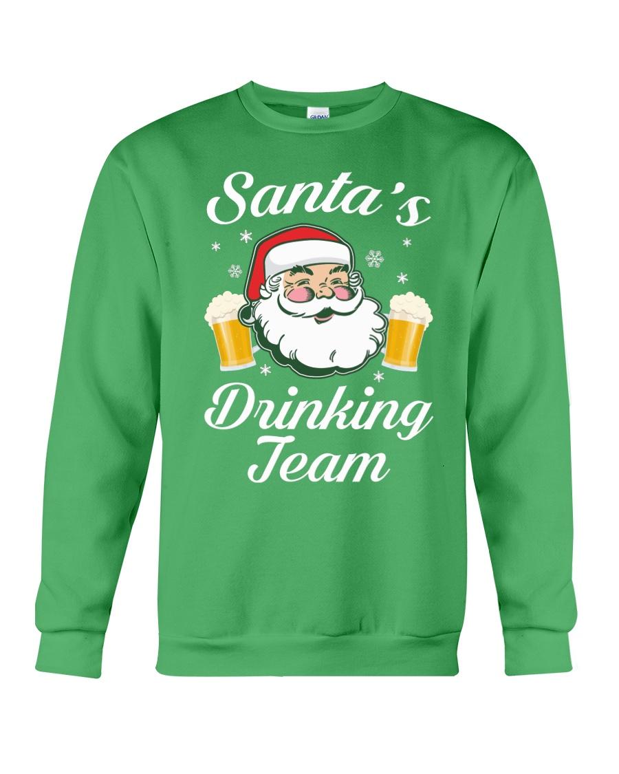 Santa Drinking Team Crewneck Sweatshirt