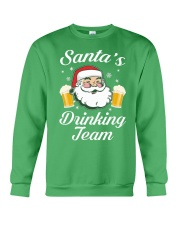 Santa Drinking Team Crewneck Sweatshirt front