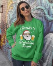 Santa Drinking Team Crewneck Sweatshirt lifestyle-unisex-sweatshirt-front-3