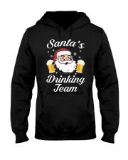 Santa Drinking Team Hooded Sweatshirt thumbnail
